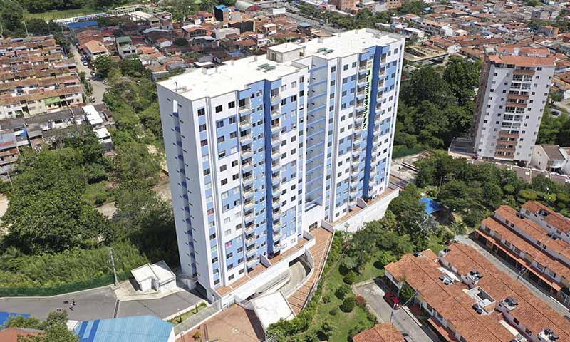 vista lateral terrazas de san Francisco apartamentso en venta piedecuesta